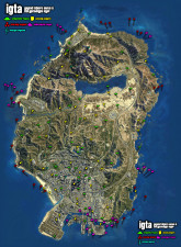 GTA V Collectibles Map