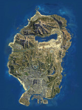 GTA V Satellite Map Small