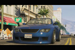gta 5 trailer 1 blue car driving around 2