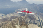 gta online gameplay flying towards the alamo sea