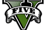 gta v five logo v only